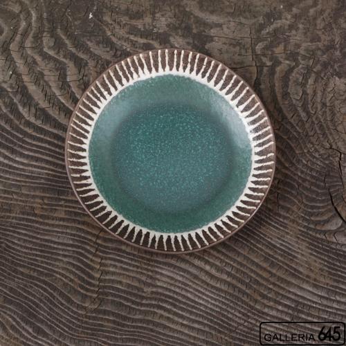 6寸皿(グリーン):安里貴美枝:081058-2