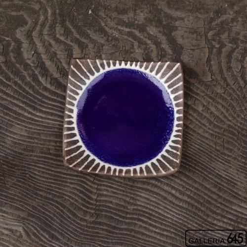 5寸正方皿(ブルー):安里貴美枝:081059-1