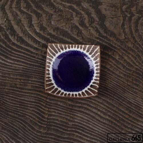 3寸正方皿(紺色):安里貴美枝:081060-1