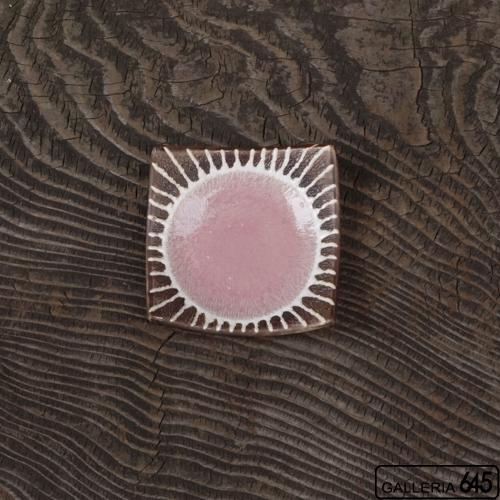 3寸正方皿(ピンク):安里貴美枝:081060-5