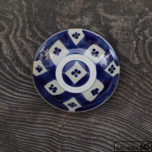 5寸皿(格子梅):石倉一人:083011