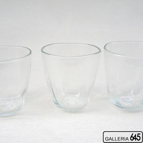 めんとりグラス(クリア):吹きガラス工房彩砂(ルリ):086003