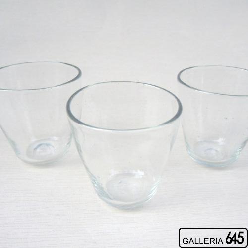 コーングラス(クリア):吹きガラス工房彩砂(ルリ):086004