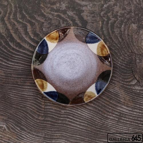 6寸皿(2彩半丸紋):谷口室生:088011