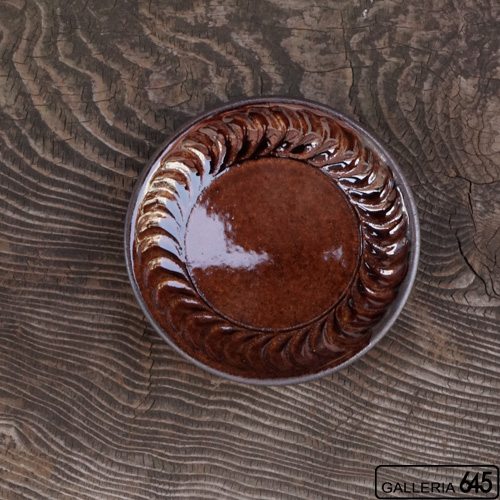 6寸皿(茶):谷口室生:088013