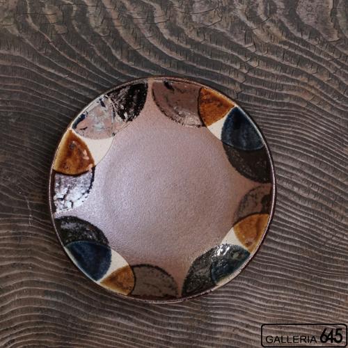 7寸皿(茶):谷口室生:088039