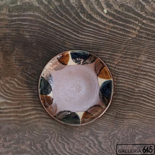 5寸皿(2彩半丸紋):谷口室生:088076