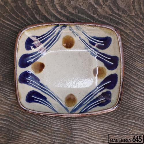 四角深鉢(呉須波):谷口室生:088099