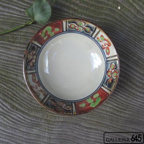 4寸皿(呉須釉国文):國場 一:094013-D
