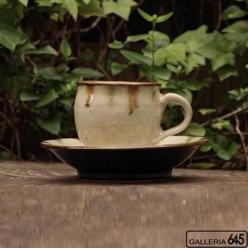 カップ&ソーサー(緑茶):菅原 謙 :096018-1