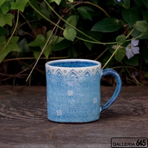 イズブルーマグカップ(四角):天野雅夫:099011