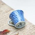 墨はじき桜(青色)珈琲碗皿:津上是隆:015069