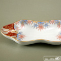 色絵竹文豆型皿:有田製窯【送料無料】:030003