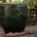 マグカップ(丸・茶唐草):福田健治:039018