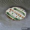 たまご型皿(斜線):福田健治:039145