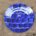 コバルトリム刷毛目尺皿:かねき陶房 菊地 穣 :054022