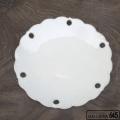 雪花皿柿灰釉8寸皿:かねき陶房 菊地 穣 :054030