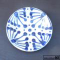 7寸皿(コバルト):野本 周:080026