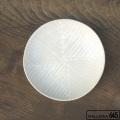 6寸淺鉢(幾何学模様・白):安里貴美枝:081054-1
