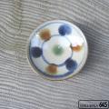 3寸皿(三彩ドット):谷口室生:088001