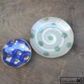 6寸皿(緑ドット):谷口室生:088015
