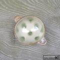 手付きスープカップ(緑ドット):谷口室生:088068