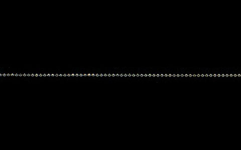 K10ホワイトゴールド カットボールチェーン 線径1.2φ 40cm