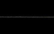 K18ホワイトゴールド カットボールチェーン 線径1.2φ 50cm