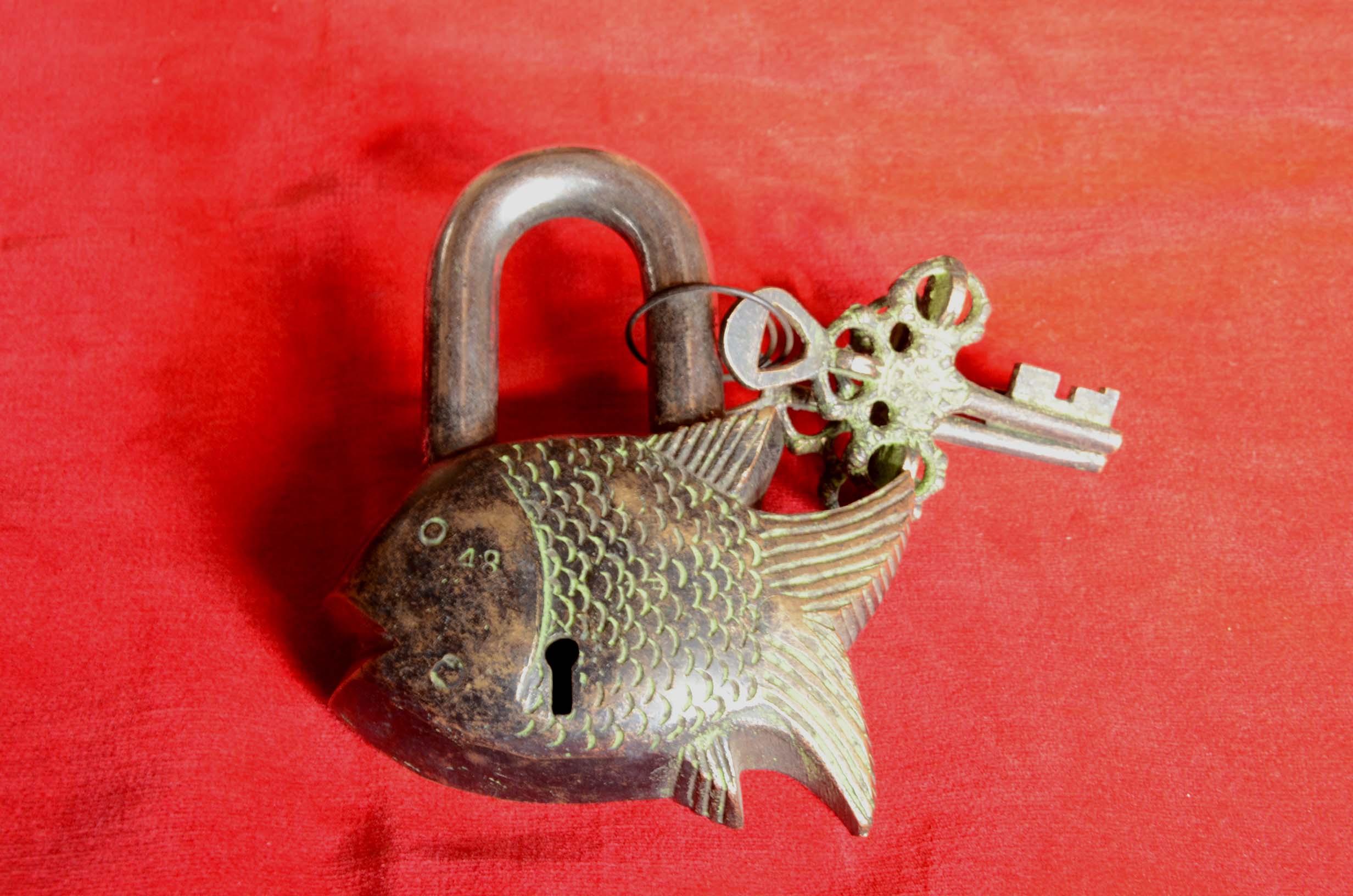 魚 南京錠