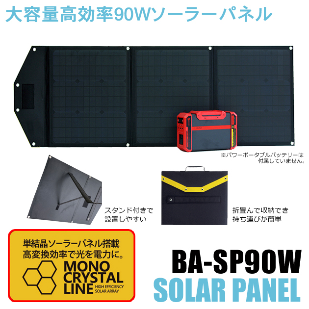 大容量高効率90Wソーラーパネル