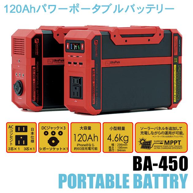 パワーポータブルバッテリーBA-450