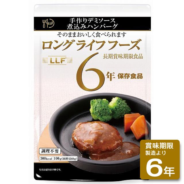 手作りデミソース煮込みハンバーグ(50食入/箱)