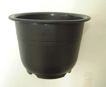 プラ鉢 4DA 黒 150個セット 山野草
