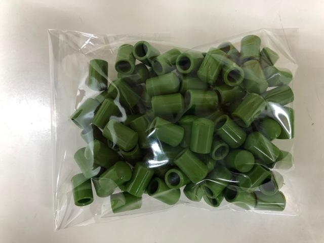 支柱キャップ 5mm用 グリーン 100個 洋蘭 支柱 /ネコポス便可
