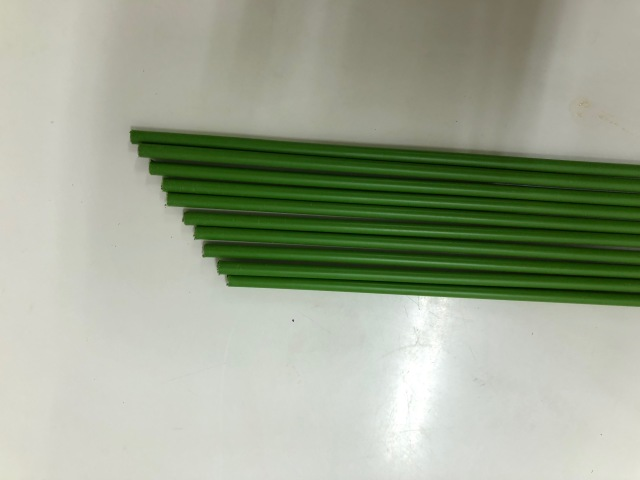 グリーン鉄線(鋼管)  5mm 60cm 500本 蘭支柱 洋蘭 カトレア 胡蝶蘭