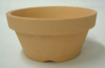素焼き鉢 浅鉢(平鉢)ロクロ造り 3.5号 10枚