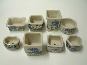 小鉢 8点セット 白泥青磁山水 3-4.5cm 13A-45C