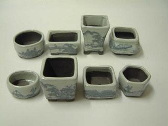 小鉢 8点セット ウ泥青磁山水 3-4.5cm 13A-45F