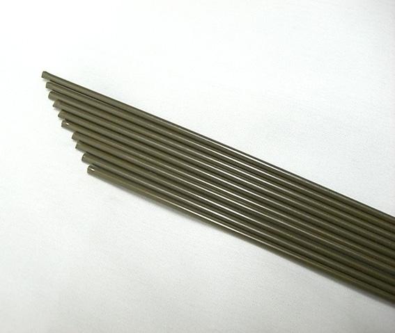 【送料無料】 ブラウン鉄線 茶色 2.6mm 1メーター 10本 蘭支柱 洋蘭 胡蝶蘭