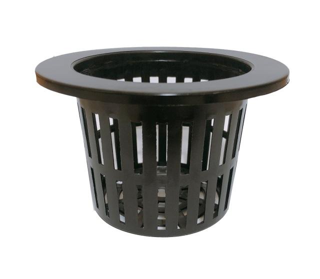 縁あり穴鉢 11cm 黒 10個 硬質ポリポット CP-11