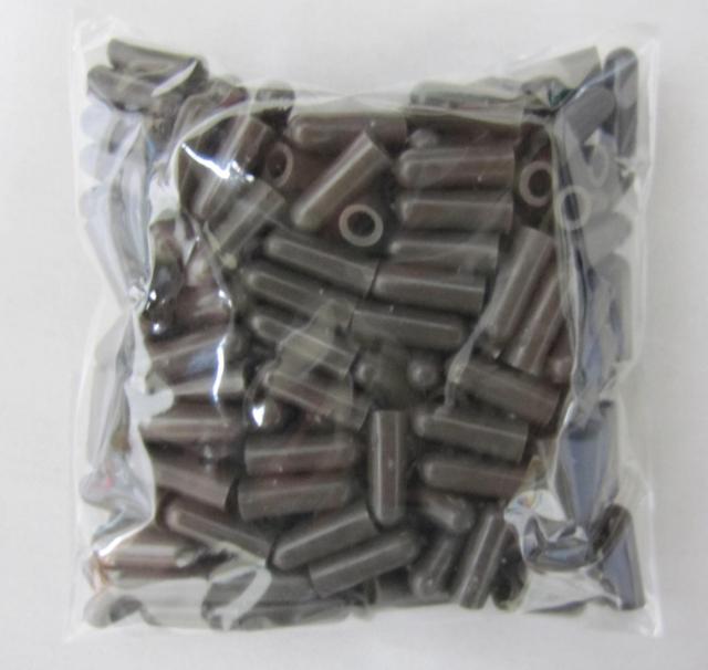 支柱キャップ 2.6mm用 ブラウン 200個 洋蘭 支柱 /ネコポス便可