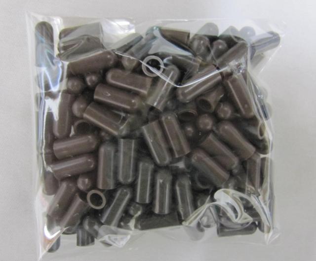 支柱キャップ 4.0mm用 ブラウン 200個 洋蘭 支柱 /ネコポス便可