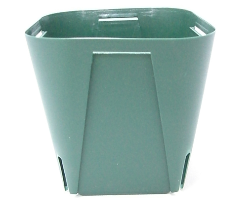 EGスリット鉢 10.5cm  角型 モスグリーン 100個セット プラ鉢 富貴蘭 長生蘭 EG105