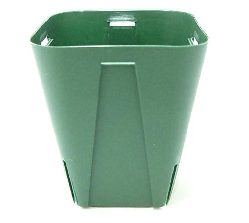 EGスリット鉢 7.5cm 2.5号 角型 モスグリーン 100個セット プラ鉢 富貴蘭 長生蘭 EG75