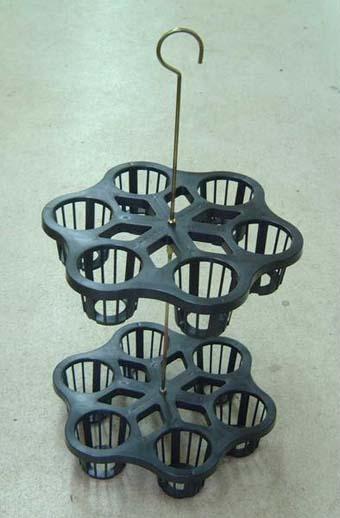 富貴蘭 プラ吊枠 吊掛 12個掛け 黒色
