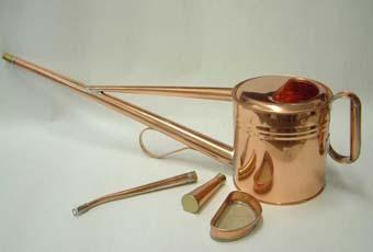 銅製の如雨露(ジョウロ) 1.8リッター  取手付き