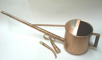 銅製の如雨露(ジョウロ) 1.2リッター  取手付き  八木光