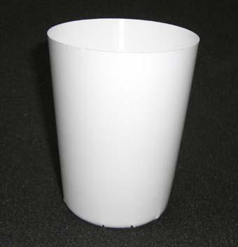 硬質ポリポット 8cm深 100個 白