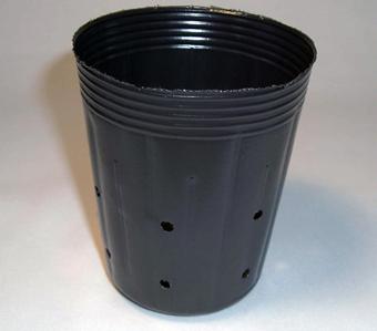 側面穴付ポリポット深鉢 9cm 黒 100個