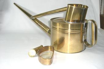 真鍮製の如雨露(ジョウロ) 英国式 4号